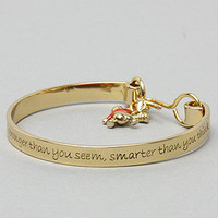 The Pooh Collection Bangle Charm Bracelet