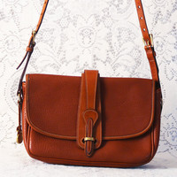 vintage dooney & bourke brown leather purse // handbag