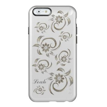 Silver Metal Style Swirls Incipio iPhone 6 Case