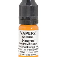 Caramel Flavor Vaperz E-Liquid 10ml Bottle at Hookah Company