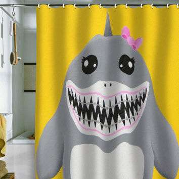 DENY Designs Home Accessories | Mandy Hazell Shark Tooth Sally Shower Curtain