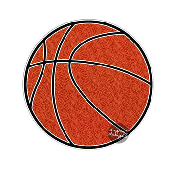 Basketball Car Sticker - Car Decal Bumper Sticker Laptop Vinyl Decal Orange Bball Boy Sport Ball Wall Decal Athlete Baller Sticker