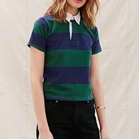 Urban Renewal Recycled Shrunken Rugby Shirt - Urban Outfitters