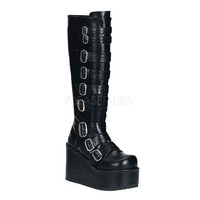 Demonia Buckled Knee Boots :: VampireFreaks Store :: Gothic Clothing, Cyber-goth, punk, metal, alternative, rave, freak fashions