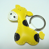 Gil The Giraffe Leather Keychain ( .. on Luulla