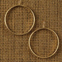 Lustrous Hoop Earrings