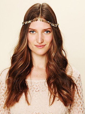 Free People Golden Leaf Headpiece