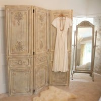 Limed Wooden Dressing Screen