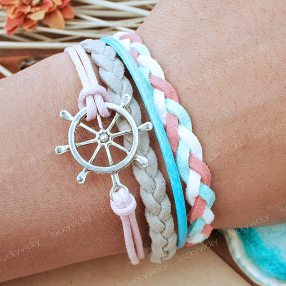 Bracelet-Steering wheel bracelet-Vintage helm wheel bracelet- Gift for girl friend