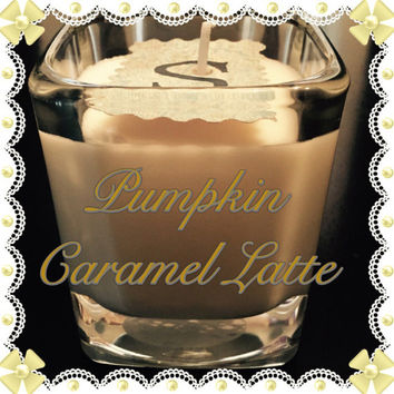 Pumpkin Caramel Latte Scented Soy Candles