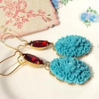Katherine Earrings - Vintage Siam R.. on Luulla