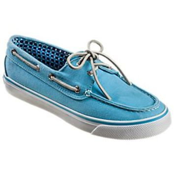 Sperry Top-Sider Canvas Bahama 2-Eye Boat Shoes for Ladies - Turquoise