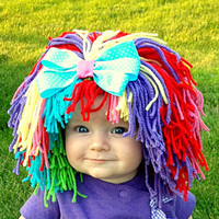 Clown Costume Baby Hat Halloween Costume Clown Wig Baby  Hats Colorful Wig Toddler Costume Photo Prop Dress Up Clothes
