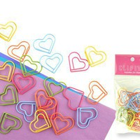 heart paper clips