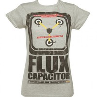 Ladies Flux Capacitor Back To The Future Glow In The Dark T-Shirt : TruffleShuffle.com