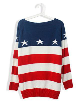 Striped Long Sleeve with Star Sweate ST002E