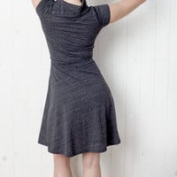 Snap Neck Dress in Gray Heather