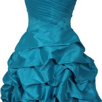 Beaded Taffeta Party Mini Bubble Dress Prom Holiday