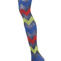 Henry Holland Zig Zag Tights - Brands at Topshop - Tights & Socks  - Apparel