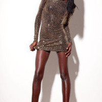 Black Milk ? Gold Sequin Dress