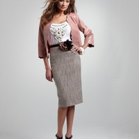 Tweed Pencil Skirt With FREE Corsage Belt at Newport-News.com