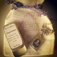 Dead Writers Gift Pack - Locket & Solid Perfume Tin