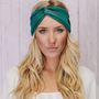 Teal Turban Headband Workout Twist Stretchy Hair Bands (T01)