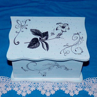 Wedding Guest Book Box Alternative Victorian - Decorative Wood Box- Wedding Keepsake Box, 3x5 Cards, Made to Order