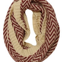 Fall Into The Holidays Chevron Scarf, Burgundy