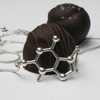 Theobromine (Chocolate) Molecular Necklace