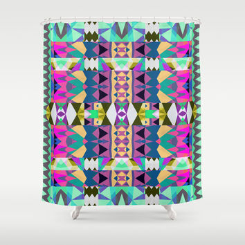 Mix #526 Shower Curtain by Ornaart