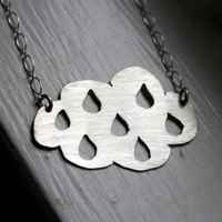 Made To Order Rainy Day Cloud Necklace by Rachel by luckyduct