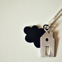 The miniature Refuge/Home necklace Made to by TheAngryWeather