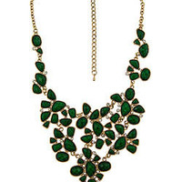 Blu Bijoux Emerald Facet Bib Necklace - Max and Chloe