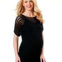 Motherhood Maternity: Short Sleeve Lightweight Maternity Sweater