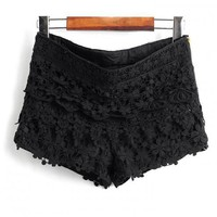 Layers Of Lace Lace Shorts Black$42.00