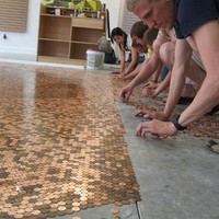 To Do....... / DIY penny flooring $1.44 a sq ft. I'm not sure if I would ever do this, but it's pretty cool.