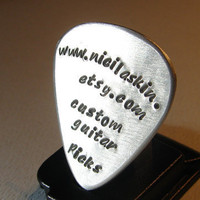 Guitar Pick Handmade Aluminum Music Business Advertising