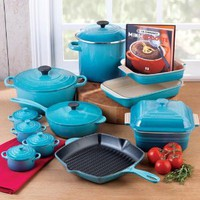 Le Creuset Cookware Set,20 Piece: Caribbean: Amazon.com: Kitchen & Dining