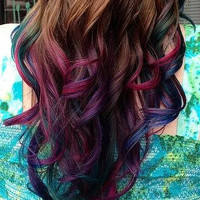 Temporary Hair Color - Get the Dip Dye Look with Colored Gel - Single Use, Washes Out Easy