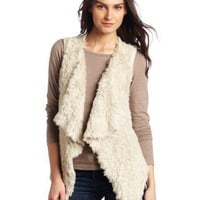Kensie Women`s Shaggy Faux Fur Vest