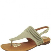 Grey GLADIATOR STYLE SANDAL @ KiwiLook fashion