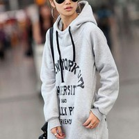 Gray Hooded Grows Sweatshirt$41.00