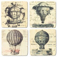 Air Balloon Coasters - Gifts - Home