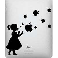Girl Bubble----iPad decals iPad Stickers  Vinyl decal for Apple Mac iPad iPhone Macbook Pro Macbook Air