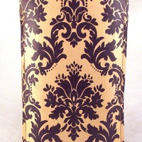 Vintage Damask Leather iPhone Case Hand Made  by TinderBloom