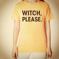 Witch Please - Orange Cotton T-shirt - FREE SHIPPING