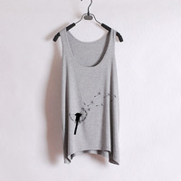 Dandelion - Women Tank Top - Grey - Sides Straight