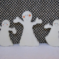 Halloween Wood Painted Ghost Shelf Sitters
