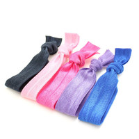 No Tug Hair Ties (5) - Yoga Hair Tie Ponytail - Elastic Ribbon Hair Ties - Emi Jay Inspired Fabric Hair Ties - Teen Hair Accessories